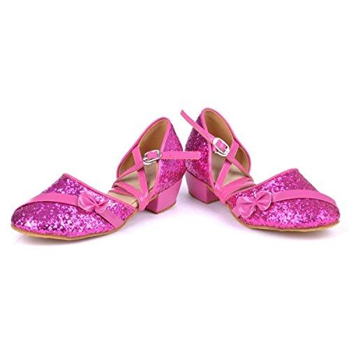 Jazz Baile Zapatos Latino Latino de de Onecolor Baile Baile de Zapatos Cuero Modern de Tira Púrpura Zapatos Adultos BYLE Zapatos Sandalias de de Samba Verano Tobillo BaXXfq