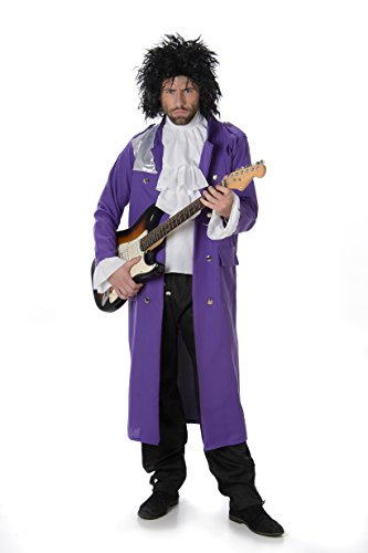 This Guy Costumes Men's Prince Pop Icon, Purple, Black/White, Medium