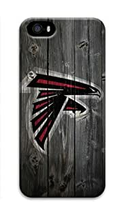 Atlanta Falcons Wood Iphone 5/5S Hard Protective 3D Case by eeMuse by ruishername