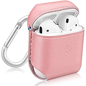 Amazon.com: Fintie AirPods Genuine Leather Case, Full