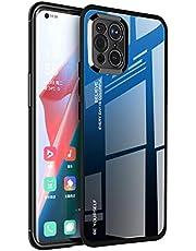 WEIOU Gradient Glass Cover voor OPPO Find X3 Pro Case, Anti-Kras Gehard Glas Achterkant en Siliconen Shockproof TPU frame Bumper Telefoon Shell - 7