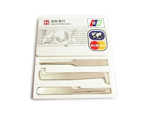 Bidlsbs 5pcs Credit Card Hardware Multitools for Training Practice - Tools Hardware And