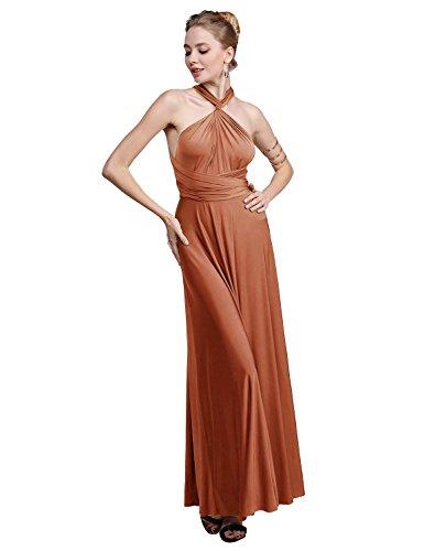 orange halter maxi dress - 9
