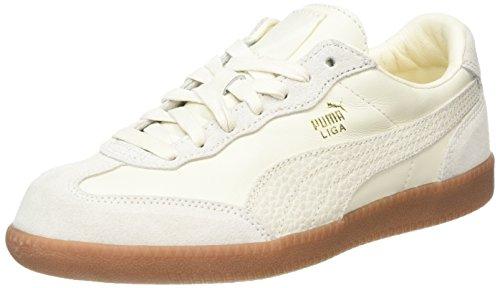 Unisexe-pumas Erwachsene Sneaker En Cuir Liga Wei? (murmure Blanc Murmure)