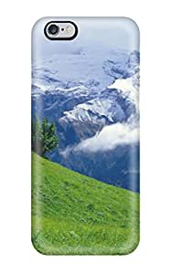 Hot 6954284K16106914 Waterdrop Snap-on Green Over Clouds Case For Iphone 6 Plus