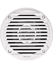 "Jensen MS5006W Dual Cone Waterproof 5.25"" Speaker, White, 30 Watts Max Power Handling, Sensitivity 86dB, Frequency Response 79Hz-20kHz, Nominal Impedance 4 Ohms, 1.5"" Mounting Depth, 1 Speaker Only"