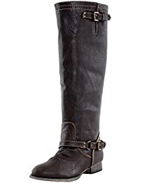 Outlaw-81 Women's Ankle Strap Tall Riding Boots