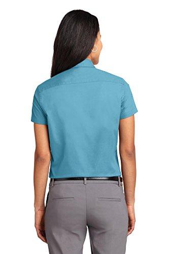 La maui Camisa Mujer Arrugas Portuaria Azul Autoridad De wvq0FWE