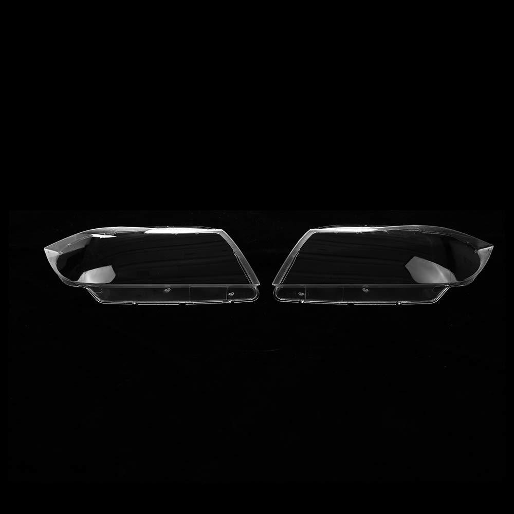 Cubierta Delantera de la Lente de la l/ámpara de la Cabeza del Faro Delantero del Coche Cubierta de pl/ástico del Faro Delantero 1PCS para BMW E90 2005-2012 Derecha