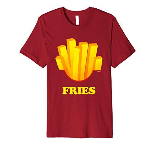 French Fries Costume Funny Halloween Fries Love Premium T-Shirt]()