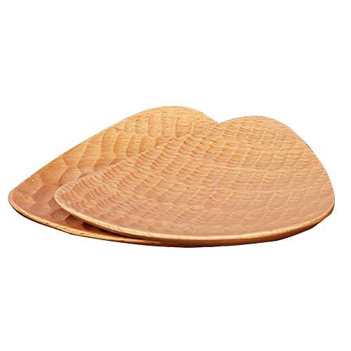 ReFaXi Japanese Snack Plate Dishes Wooden Creative Tortoiseshell Hand-Carved (Color1) by ReFaXi