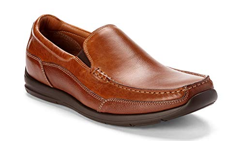 (Vionic Men's Astor Preston Slip-on Loafer - Dress or Casual - Leather Loafers for Men with Concealed Orthotic Support Tan 10.5 M US)