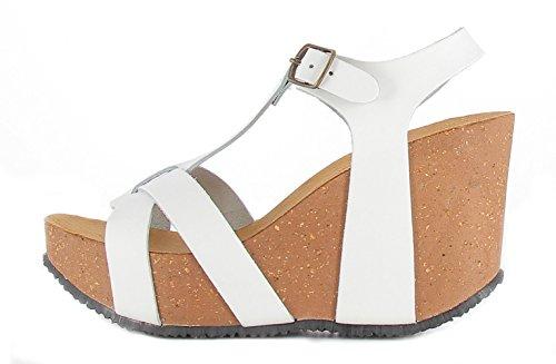 Bionatura , Sandales pour femme blanc Bianco - blanc - Bianco, 37 EU