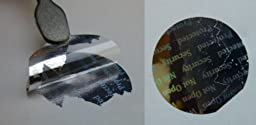PPLS Oval Silver Stickers Protective Security Holograms \