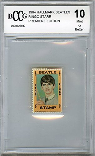 1964 Hallmark BEATLES Stamp Ringo Starr BECKETT 10 MINT Vintage Rare High Grade! Over 50 Years Old ! Shipped in Ultra Pro Graded Card Sleeve to Protect it ! from Wowzzer