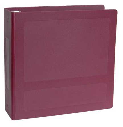 OMNIMED 205120-BU Silver Base Anti-Microbial Side Open Molded Binder 2 1/2''- Burgundy (EA) by Omnimed