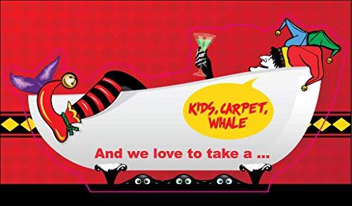 Phish Bathtub Gin Sticker Kids Carpet Whale Puzzle Graphic of Poster Song Vinyl Decal Label Stickers, Die-Cut Shape for Water Bottle Laptop Luggage Bike Laptop Car Bumper Helmet Waterproof