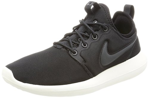 Nike Women's Roshe Two Black/Anthracit Sail Volt Running Shoe 8.5 Women US