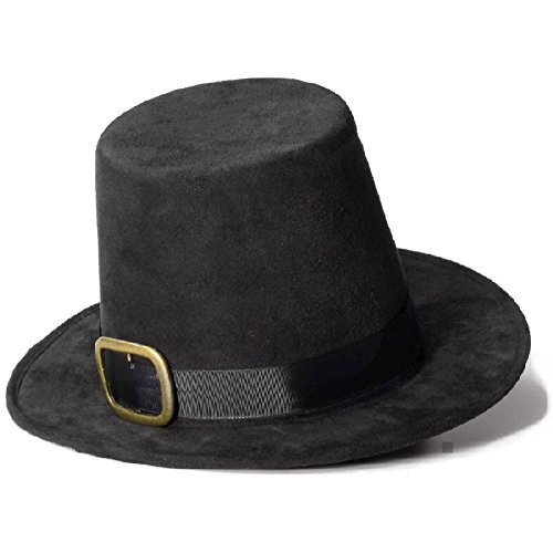 Super Deluxe Pilgrim Hat Costume Accessory Adult Thanksgiving