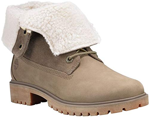 Timberland Jayne Fleece Fold Down Women's Boots Light Brown Nubuck tb0a1sgb (7.5 B(M) US)