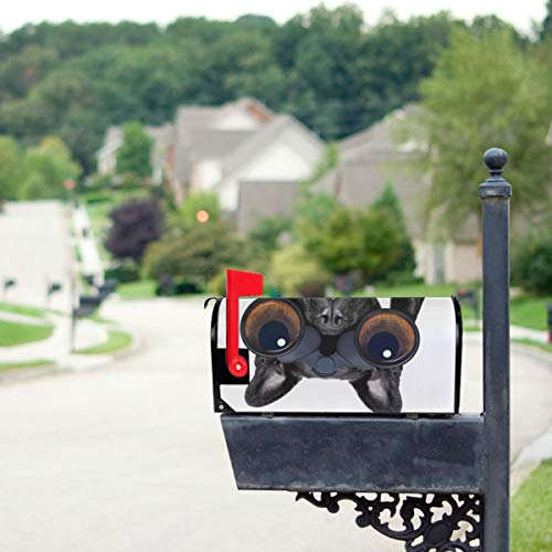 HTJZH Dog with Magnifying Glass Mailbox Covers Standard Size Original Magnetic Mail Cover Letter Post Box 21