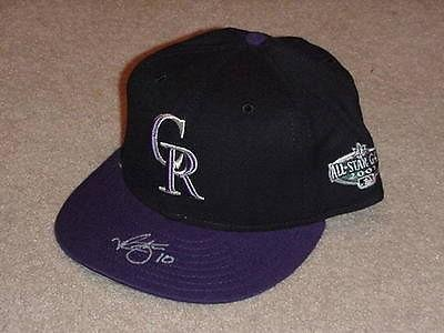 Mike Hampton 2001 All Star Game Signed Hat Cap Colorado Rockies - Autographed MLB Helmets and Hats