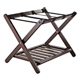Winsome Wood Remy Luggage Rack with Shelf in Cappuccino