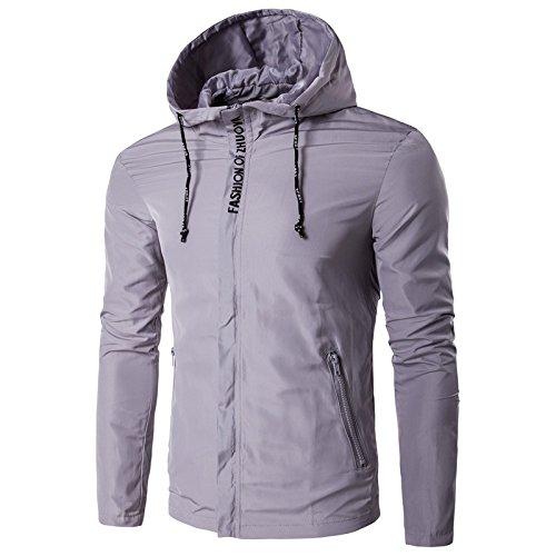 chaquetas hombres gris cap incluso chaqueta Los hombres personalidad casual XXL Chaqueta ocio q5v1cpd