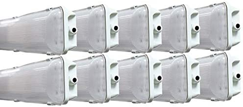 Vapor Water Tight Hardwired LED Fixture 4500K Shop Light New! 4-PACK 72W 4 Ft