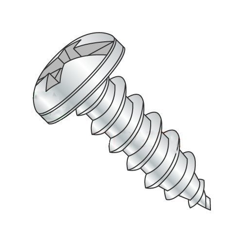 #10-12 x 3/8'' Self Tapping Screws - Sheet Metal Screws, Type A, Steel, Zinc Plating, Pan Head, Combo (Phillips/Slotted) (Quantity: 9000 pcs)