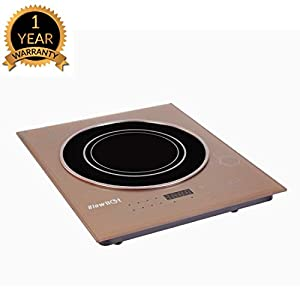 BLOWHOT 2000 Watt Feather Touch Ebony Induction Cook Top – 6 Months Warranty – (Brown)