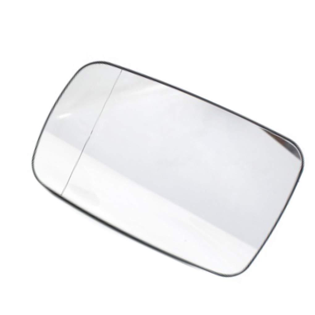 Ben-gi Blanc c/ôt/é Gauche ext/érieure chauff/ée Vue arri/ère Miroir de Chauffage Rearview Remplacement de Verre Miroir pour BMW E39 51168209811