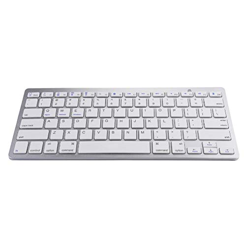 Kinshops Wireless Keyboard For Apple For iPad iPhone For Android For Mac Windows Ultra Slim,white