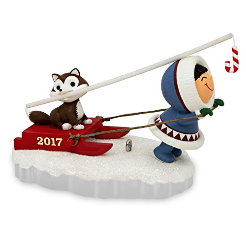 Hallmark Keepsake 2017 Frosty Friends Dog Sled Christmas Ornament ()