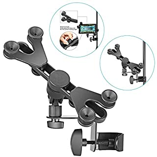 Neewer 6-11 inches Adjustable Music Mic Microphone Stand Tablet Mount with 360 Degree Swivel Holder for Apple iPad Pro Air Mini Google Nexus Samsung Galaxy