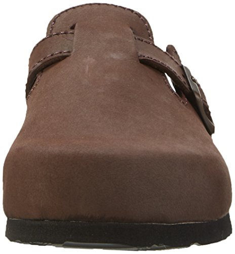 Dr. Brinkmann 600355 - Zuecos de cuero hombre marrón