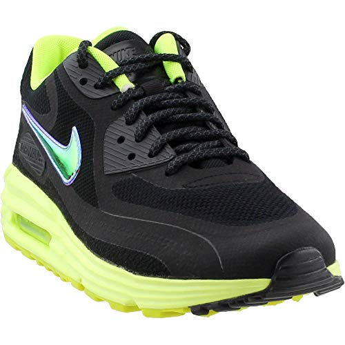 Nike Women's Air Max Lunar90 C3.0 Black/Mtllc Silver/VLT/Anthrct Running Shoe 6.5 Women US (Nike Air Max 90 Hyperfuse Black And White)