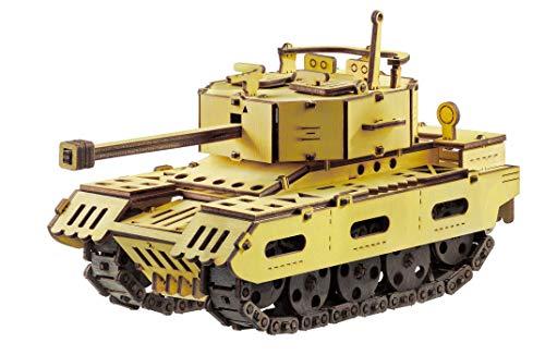 [해외]3D Wooden Puzzle for Adults & Teens Gifts - 3D Mechanical Model DIY Construction Kit - Tank / 3D Wooden Puzzle for Adults & Teens Gifts - 3D Mechanical Model DIY Construction Kit - Tank