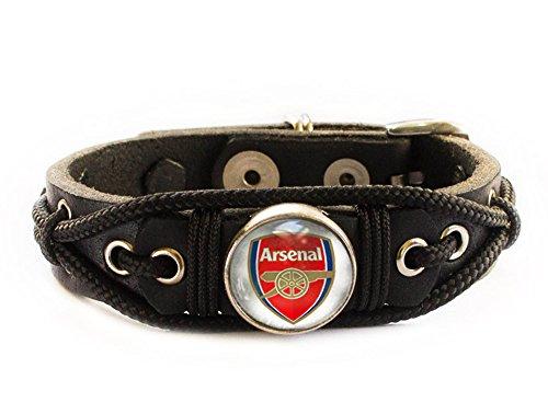 Arsenal Bracelet, Football Soccer Fan Gift (Men's wrist: 7.5 - 8.5 Inches)