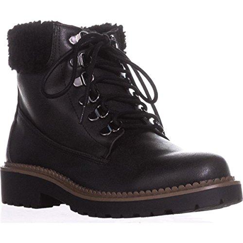 Wool Esprit - Esprit Candis Wool Cuff Work Boots, Black, 7 US