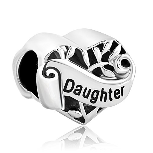 Uniqueen Jewellery New Daughter I Love You Heart Tree Of Life Charms Bead...