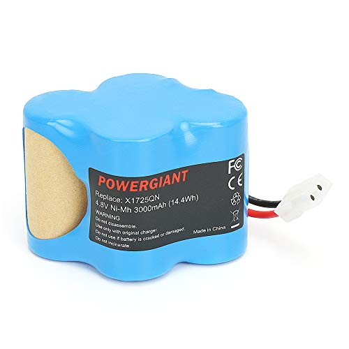 PowerGiant 4.8V 2.0Ah NiCd Replacement Battery for Shark Euro-Pro X1725QN X8905 V1930 VX1 V1700Z Cordless Sweeper ()