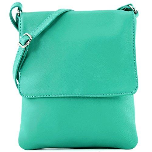 small T Aquamarine ladies shoulder leather 34 modamoda bag bag ital Messenger de xqT8wzHOn