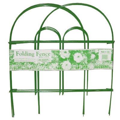 "Folding 18"" x 10' Wire Fence  Finish: Light Green"