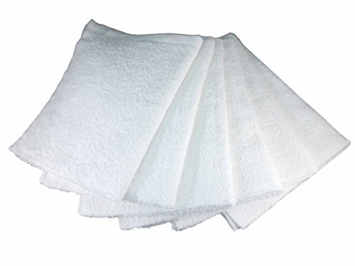 高品質の人気 ホワイトコットンバーMops of、テリータオル、拭き取るRags、16