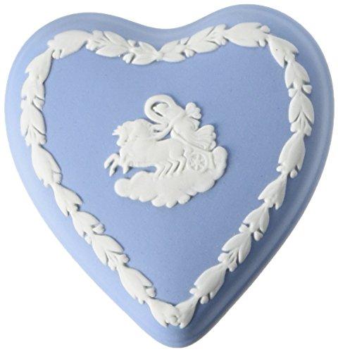 Wedgwood Blue Jasper Mini Heart Box (Box Wedgwood)