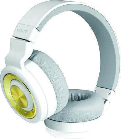 ec3e3a3f05e Amazon.com: Coby Premium CHBT-613 Bluetooth Headphones (White): Electronics