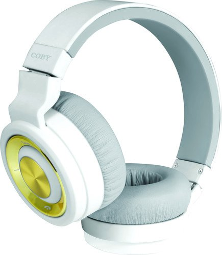 Coby Premium CHBT-613 Bluetooth Headphones (White)