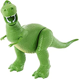 Disney Pixar Toy Story 4 True Talkers Rex Figure, 7.8 in / 19.81 cm-Tall Posable, Talking Character Figure with Authentic Movie-Inspired Look and 15+ Phrases, Gift for Kids 3 Years and Older