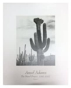 Cactus art ansel adams saguaro desert cactus for Ansel adams mural project 1941
